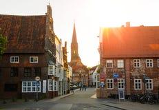 Sikt av Luneburg, Tyskland Royaltyfria Bilder