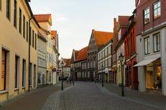Sikt av Luneburg, Tyskland Royaltyfri Bild