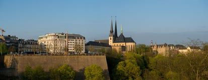 Sikt av Luxembourg det historiska centret Arkivbilder