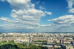Sikt av Lyon Frankrike arkivfoton