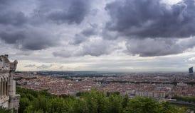 Sikt av Lyon Frankrike Royaltyfri Foto