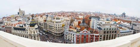 Sikt av Madrid Arkivbilder