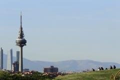 Sikt av Madrid Arkivfoto