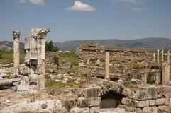 Sikt av magnesiaannonsen Maeandrum, Aydin landskap, Turkiet Arkivbilder