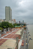 Sikt av Malecon 2000 strandpromenad - Guayaquil, Ecuador Arkivbild