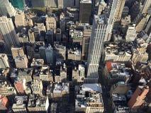 Sikt av Manhattan byggnader Royaltyfria Bilder