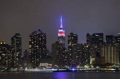 Sikt av Manhattan från den Long Island staden Royaltyfri Fotografi
