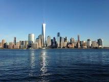 Sikt av Manhattan från utbytesställe Fotografering för Bildbyråer