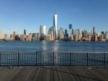 Sikt av Manhattan från utbytesställe Royaltyfria Foton