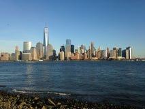 Sikt av Manhattan från utbytesställe Royaltyfri Fotografi