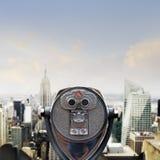 Sikt av Manhattan horisont Royaltyfria Foton