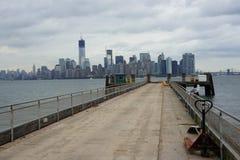 Sikt av Manhattan horisont Arkivfoton