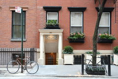 Sikt av Manhattan, västra by, New York City Royaltyfri Foto