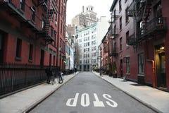 Sikt av Manhattan, västra by, New York City Royaltyfria Bilder