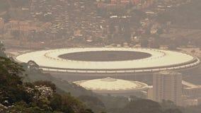 Sikt av Maracana fotbollsarena arkivfilmer
