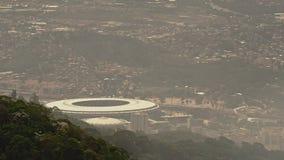 Sikt av Maracana fotbollsarena stock video