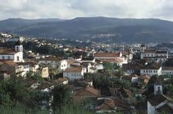 Sikt av Mariana, Minas Gerais, Brasilien Arkivbild