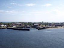 Sikt av Marine Park Arkivbild