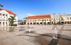 Sikt av marknadsplatsen i Kielcen/Polen Royaltyfria Bilder