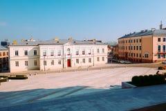 Sikt av marknadsplatsen i Kielcen/Polen royaltyfri bild