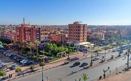 Sikt av Marrakech morocco Royaltyfri Bild