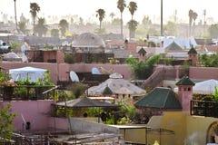Sikt av Marrakesh Medina, Marocko arkivfoton