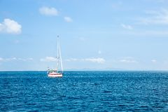 Sikt av Maya Bay, Phi Phi ö, Thailand, Phuket Arkivfoton