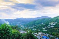 Sikt av Mea-kanten, Chiangmai, Thailand royaltyfria foton