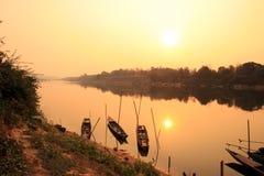 Sikt av Mekong River, Thailand Royaltyfri Foto