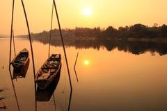 Sikt av Mekong River, Thailand Arkivfoto