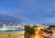 Sikt av Miami Beach Arkivbilder