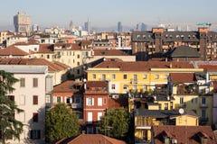 Sikt av Milan, Italien Arkivbilder