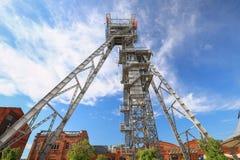 Sikt av mineshaften i den Katowice staden poland Royaltyfria Bilder