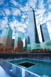 Sikt av minnesmärke 911 i New York, USA Royaltyfria Foton