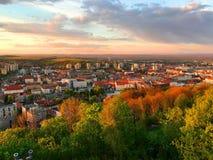 Sikt av Miskolc, Ungern Royaltyfria Bilder
