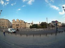 Sikt av mitten av Bryssel royaltyfri bild