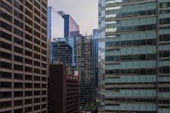 Sikt av mitten Chicago och skyskrapor i i stadens centrum Chicago, Illinois, USA Royaltyfri Fotografi
