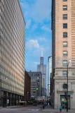 Sikt av mitten Chicago och skyskrapor i i stadens centrum Chicago, Illinois, USA Royaltyfria Foton