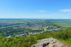 Sikt av Mont Saint Hilaire i Kanada Arkivfoto