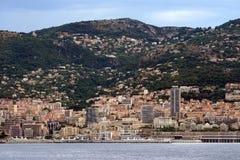 Sikt av Monte Carlo, Monaco Arkivbilder