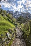 Sikt av Monte Resegone royaltyfria foton