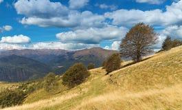 Sikt av Monte Rosa uppifrån av Mottarone - Piedmont - Italien Fotografering för Bildbyråer