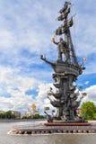 Sikt av monumentet till Peter det stort Fotografering för Bildbyråer