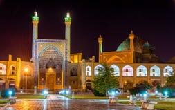 Sikt av moskén för schah (Imam) i Isfahan fotografering för bildbyråer