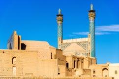 Sikt av moskén för schah (Imam) i Isfahan royaltyfria foton