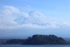 Sikt av Mount Fuji Arkivbilder