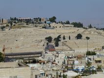 Sikt av Mountet of Olives i Jerusalem royaltyfria bilder