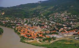 Sikt av Mtskheta, Georgia Royaltyfria Foton
