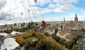 Sikt av Munich från en höjd Royaltyfria Foton