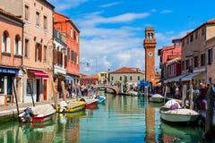 Sikt av Murano, Italien Royaltyfria Foton